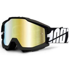 100% Accuri Kids Goggles - Black Tornado JR Mirror Lens