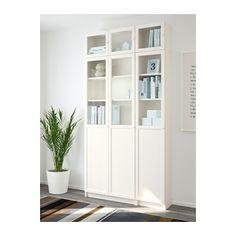 BILLY / OXBERG Knihovna - bílá/sklo - IKEA