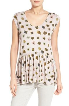 Hinge Flutter Hem Cap Sleeve Top available at #Nordstrom