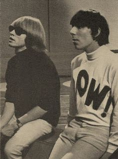Brian Jones with (looks very much like) Keith Moon. The Rolling Stones, Brian Jones Rolling Stones, Keith Moon, Roger Daltrey, Rock Music, My Music, Music Stuff, The Ventures, El Rock And Roll
