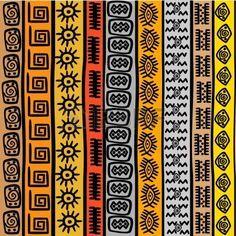 Seamless pattern avec des motifs ethniques africains
