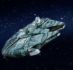 Dollar Bill Origami - Millennium Falcon