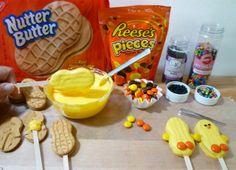 Nutter Butter Chicks for Easter Party Easter Snacks, Easter Party, Easter Treats, Easter Recipes, Easter Food, Easter Desserts, Easter Cookies, Easter Stuff, Easter Dinner