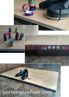 Washi Tape Can Help You Customize Your Tap Floor!