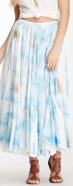 raga printed maxi skirt
