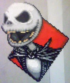 Decided to make Jack to try out the new Perler glitter white, which is like off…