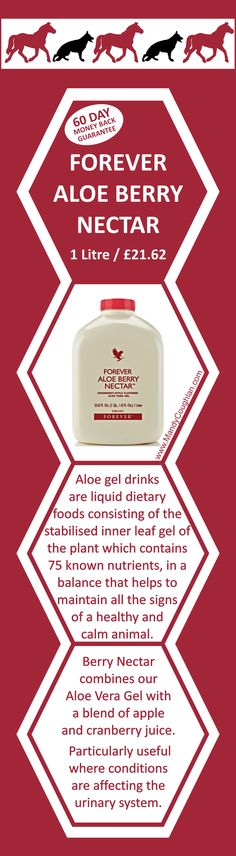 Aloe Berry Nectar, 1 Litre for £21.62. Email umesh.champaneri@gmail.com or order online at http://www.umeshmeeta.myforever.biz/store #aloe #health #forever #digestion #skin #animals #apples #cranberries