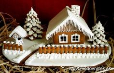 love the detail of the snow-free drive: Gingerbread Village, Christmas Gingerbread House, Christmas Sweets, Gingerbread Man, Christmas Baking, Gingerbread Cookies, Christmas Cookies, Christmas Time, Ginger House