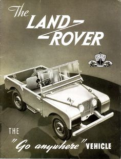 c. 1950s Land Rover Advertising Illustration