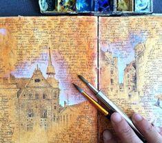 Travel sketchbook, artist sketchbook, sketchbook drawings, sketching, a Voyage Sketchbook, Travel Sketchbook, Arte Sketchbook, Sketchbook Cover, Kunstjournal Inspiration, Sketchbook Inspiration, Sketchbook Ideas, Art Sketches, Art Drawings