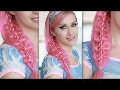 ▶ Bow braid hair tutorial for Halloween: cute princess, fairy, elf, mermaid hairstyle for long hair - YouTube