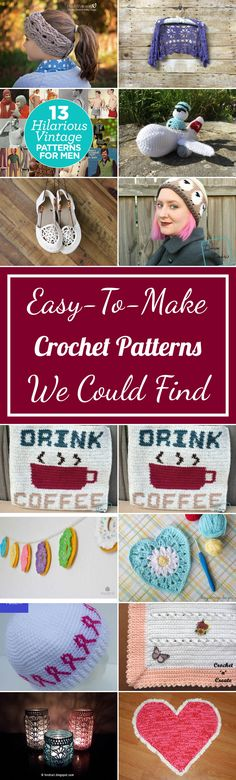 23 Easy-To-Make Crochet Patterns We Could Find
