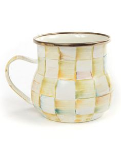 MACKENZIE-CHILDS Parchment Check Mug $29  Pick Up Order and get 20% Off Or we will ship FREE Enter Promo Code SPRPRV15 At Checkout and receive 30% Off your order