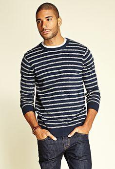 Suéter de algodón de la raya Marled | SIEMPRE 21-2000103688