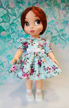 Girl Dolls, Baby Dolls, Disney Animator Doll, Disney Characters, Fictional Characters, Disney Princess, Outfits, Fabric Dolls, Sewing Doll Clothes