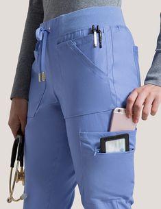10 Pocket Cargo Pant in Ceil Blue - Medical Scrubs - Nursing ⚕️ - Women in Uniform Scrubs Outfit, Scrubs Uniform, Ceil Blue Scrubs, Scrubs Pattern, Stylish Scrubs, Medical Scrubs, Nursing Scrubs, Vet Tech Scrubs, Cute Scrubs
