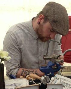 ESCartists 2015 - Gabriel Moore: based Coin cut artist and jewellery maker. Artist, Art Event, Collaborative Art