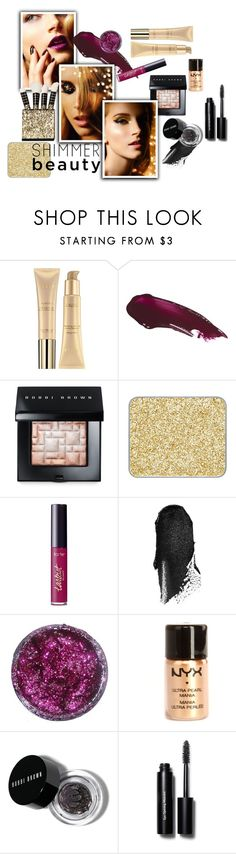 """SHINEe"" by aichi ❤ liked on Polyvore featuring beauty, Stila, Bobbi Brown Cosmetics, shu uemura, tarte, NYX and shimmerbeauty"