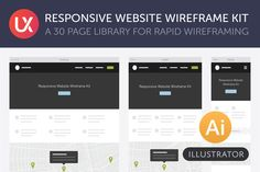 Check out Responsive Website Wireframe Kit by UX Kits on Creative Market