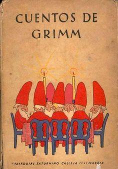 #Cuentos de los hermanos #Grimm Book Cover Art, Book Cover Design, Book Design, Book Art, Childhood Images, Vintage Children's Books, Book Illustration, Elves, Illustrations Posters
