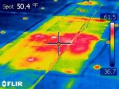 Roof Infrared Scan - Photo © Jurin Roofing Services, Inc. www.jurinroofing.com