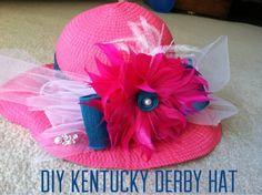 diy tutorial: kentucky derby hat
