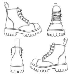 Set of drawings with boots isolated objects vector Satz Zeichnungen mit Stiefel. - Set of drawings with boots isolated objects vector Satz Zeichnungen mit Stiefeln isolierten Objektv -