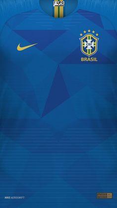 Soccer Kits, Football Kits, Football Jerseys, Brazil Wallpaper, Manchester City Wallpaper, Brazil Football Team, Classic Football Shirts, Sports Uniforms, Football Design