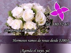 La temporada especial de #Bodas se acerca y #FloreriaMiztli tiene las mejores opciones para tì! #FelizJueves