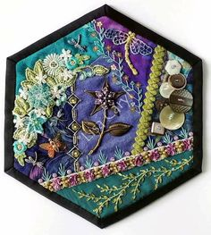 Crazy Patchwork, Crazy Quilting, Vintage Quilts, Embroidery, Elegant, Home Decor, Classy, Needlepoint, Decoration Home
