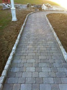 Pavestone Plaza Squares & Recs with Cobble Stone border | Yelp