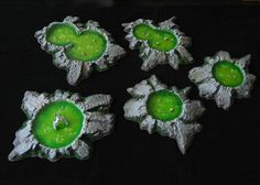 More Realistic Terrain - Toxic Slime Pits Tutorial Part 2 - Wargaming Hub Game Terrain, 40k Terrain, Wargaming Terrain, Mini Craft, D Craft, Warhammer Paint, Warhammer 40k, Miniature Bases, Dungeons And Dragons Miniatures