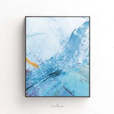 Printable Digital Abstract Light Blue Soft Ocean Motive