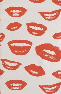 illustrated lips - w