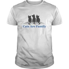 cats are family - If you love cat you will like this shirt (Cat Tshirts)
