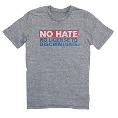 HRC human rights campaign gay lgbtq no hate no license to discriminate tee