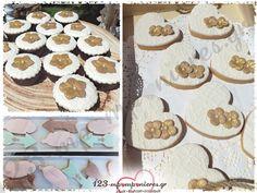 ΣΤΟΛΙΣΜΟΣ ΓΑΜΟΒΑΠΤΙΣΗΣ ΣΕ ΜΠΟΕΜ ΣΤΥΛ - ΛΕΥΚΟΧΩΡΙ ΣΕΡΡΩΝ - ΚΩΔ:LIKNO-147 Gingerbread Cookies, Gingerbread Cupcakes
