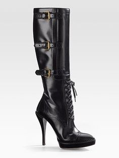 Gucci Bondage Boots - Very Sexy Knee High Heels, Thigh High Boots, High Heel Boots, Knee Boots, Heeled Boots, Tall Boots, Steve Madden Stiefel, Steve Madden Boots, Sexy Boots