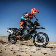 """KTM's newest official photo of the 790 Adventure R that will hopefully be available in showrooms within - """"The Ultimate Race is a… Dual Sport, Dirtbikes, Motocross, Biking, Motorbikes, Trail, Motorcycles, Pride, Adventure"""