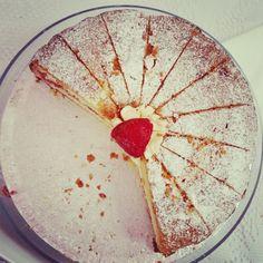 Fresh strawberries in a classic victoria sponge cake...All gluten free and dairy free...mmm