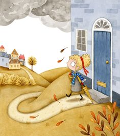 The website of Children's Illustrator Emma Allen, including a portfolio of quality illustrations for children, plus information about Emma and how to get in touch. Children's Book Illustration, Illustrations, Illustration Styles, Rain Animation, City Rain, Lost In The Woods, Whimsical Art, Art Reference, Childrens Books