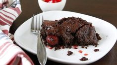 Super easy to prepare: Just mix devil's food cake mix with cola and pour over cherries. Bake for one hour and voila!