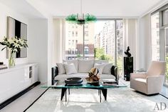A Sleek New York Apartment with Pops of Color