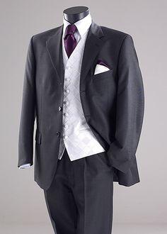 #groom wedding suit with purple tie ... For a Dress Code for Grooms ... https://itunes.apple.com/us/app/the-gold-wedding-planner/id498112599?ls=1=8  ♥  The Gold Wedding Planner iPhone App ♥