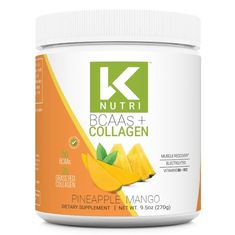 K Nutri's BCAA + Collagen is here and it combines 5g of BCAA's for your essential amino acids + 2g of Grass-Fed Collagen for the hair, skin and nails you've always wanted. This mix includes Vitamin B6 and B12, and a proprietary blend of electrolytes to keep you hydrated. This powerful combo comes in a delicious Pineapp Workout Essentials, Raspberry Lemonade, Energy Level, Refreshing Drinks, Amino Acids, Collagen, Watermelon, Grass, Vitamins