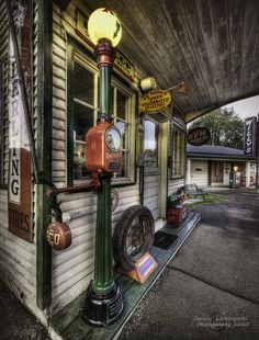 Shady Grove - Service Station. Reminds me of the gas station where I grew up.