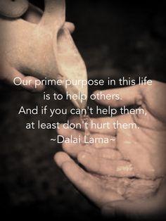 Help, don't hurt- Dalai Lama