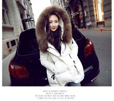 Casual Clothes, Casual Outfits, Fashion Outfits, 2015 Winter, White Ducks, Womens Parka, Down Coat, Fur Collars, Quilted Jacket