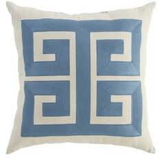 Recognized around the world as a symbol of infinity and unity, the Greek key design—or <i>meandros</i>—recalls the mythical labyrinth. It's often found on pottery, architecture, textiles and even coffee cups, and when added to your patio decor in pillow form, lends a touch of modern myth.