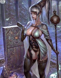 Artist: Lee Chak Khuen aka Puppeteer Lee - Title: alyssa - Card: Alisa, Dragon Witch